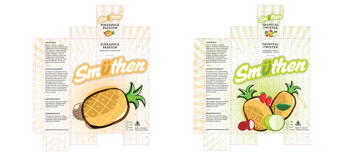 label design box packaging Food Packaging Sticker Label illustrations pin-up girls fruits vector e-juice e-liquid