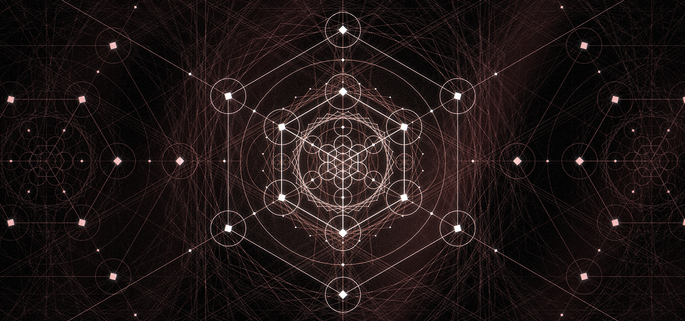 Adobe Portfolio sacred geometry GEO 2D Cinema PI Phi cube metatron Concentric Mandalas pisces