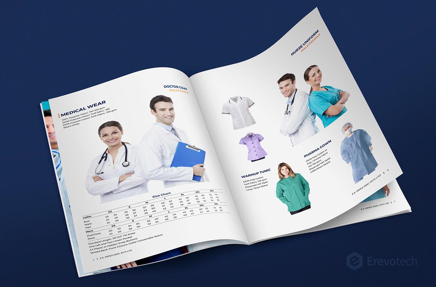 medical wear supplier profile design