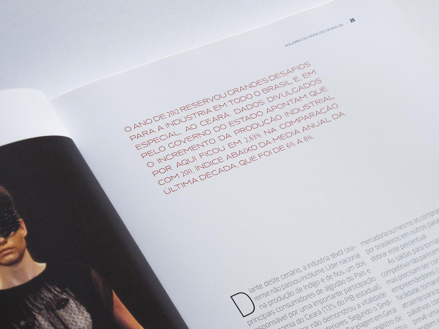 Adobe Portfolio book moda report yearbook Livro ceará fortaleza spreadsheet graph ANNUAL