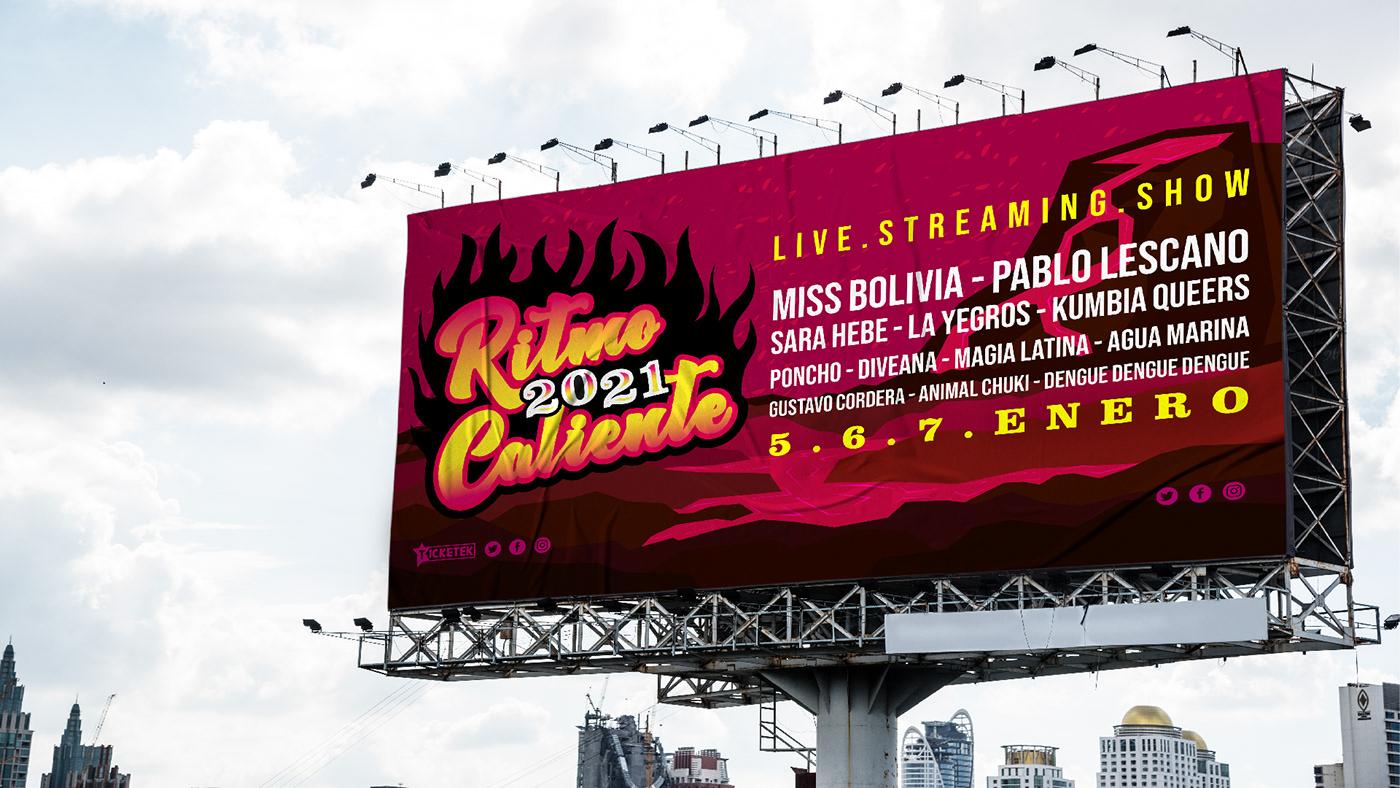 diseño festival merchandising musica Nu Cumbia redes sociales