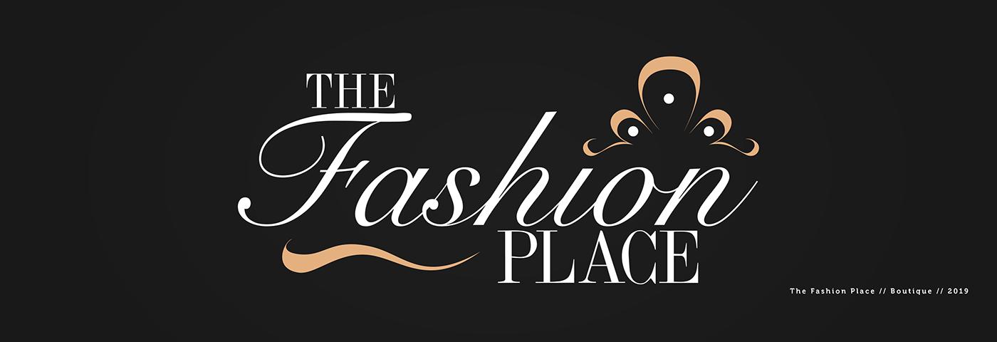the fashion place logo design