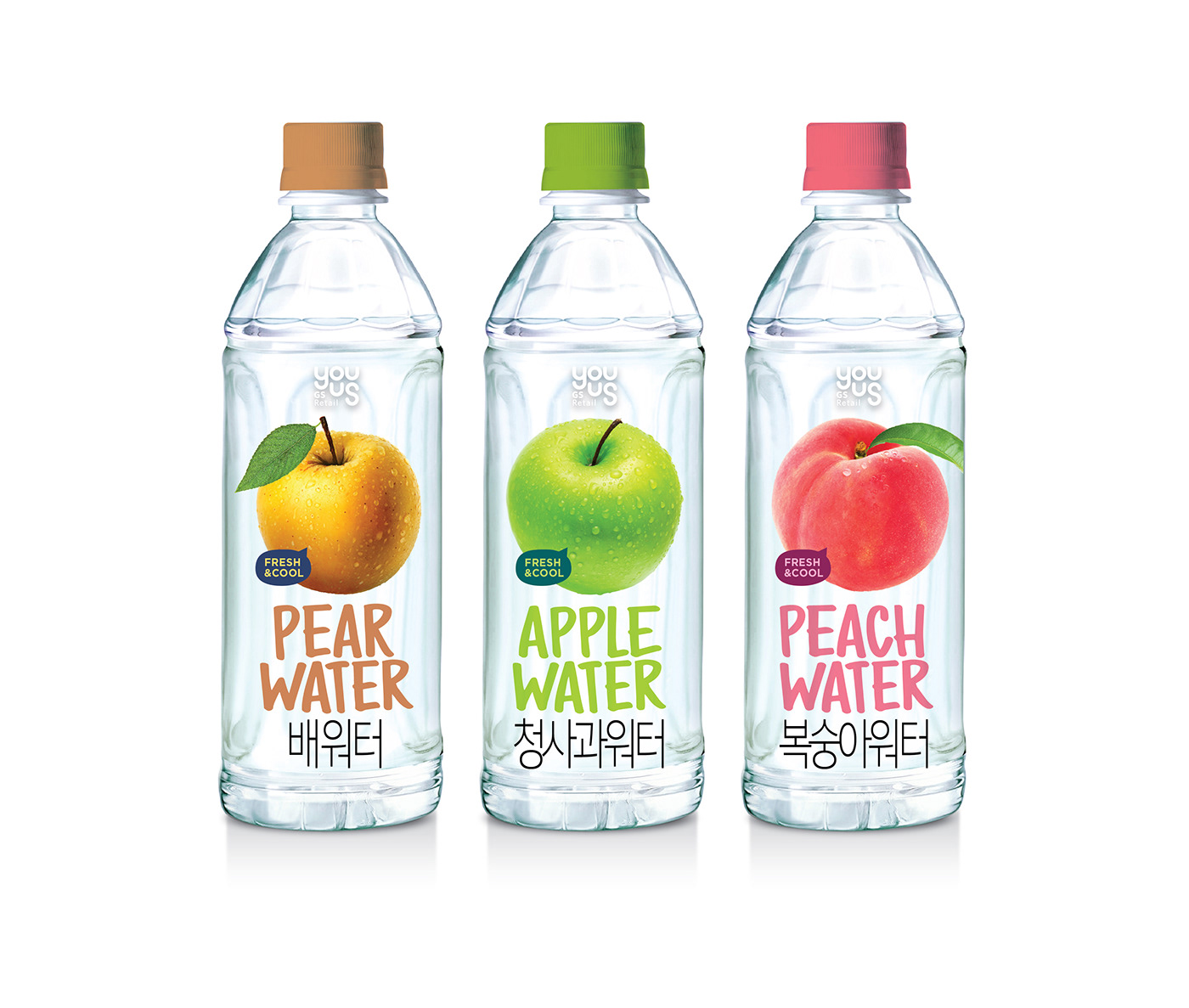 Fruits flavor water packaging on Behance