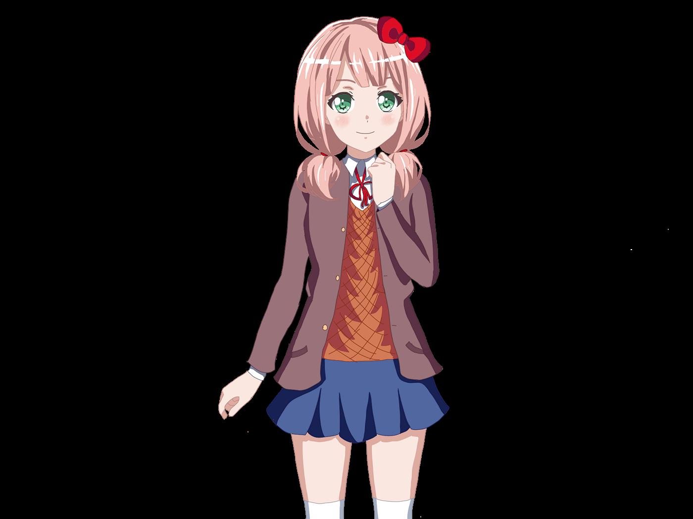 bandori DDLC Doki Doki Literature Club himari uehara outfit swap Sayori sayori ddlc Sprite Edit