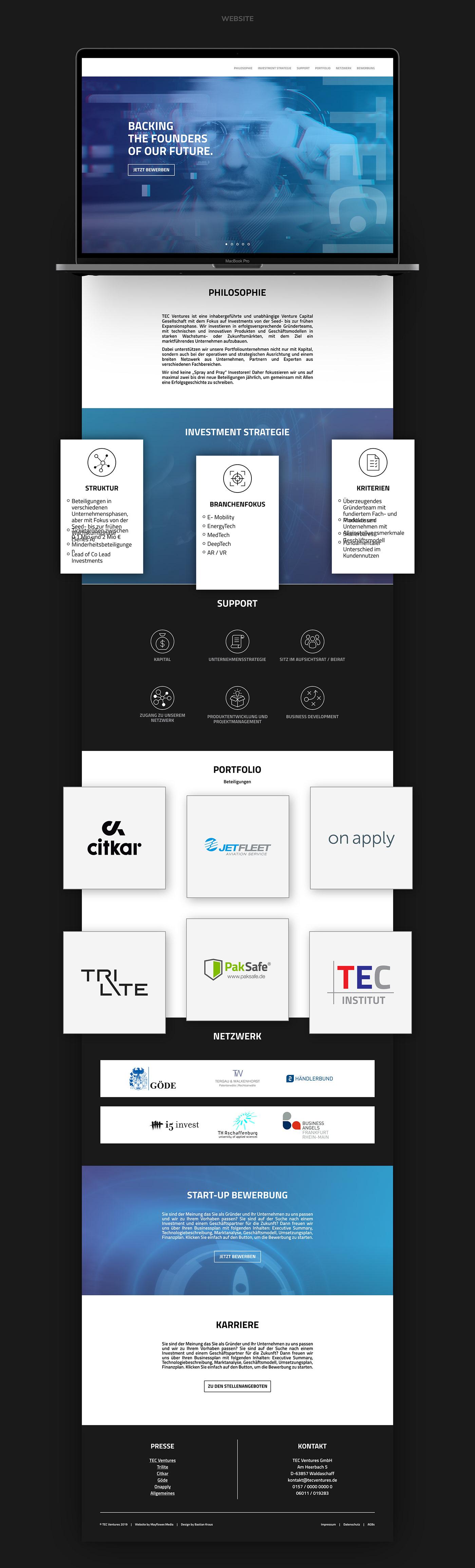 TEC VENTURES // Website