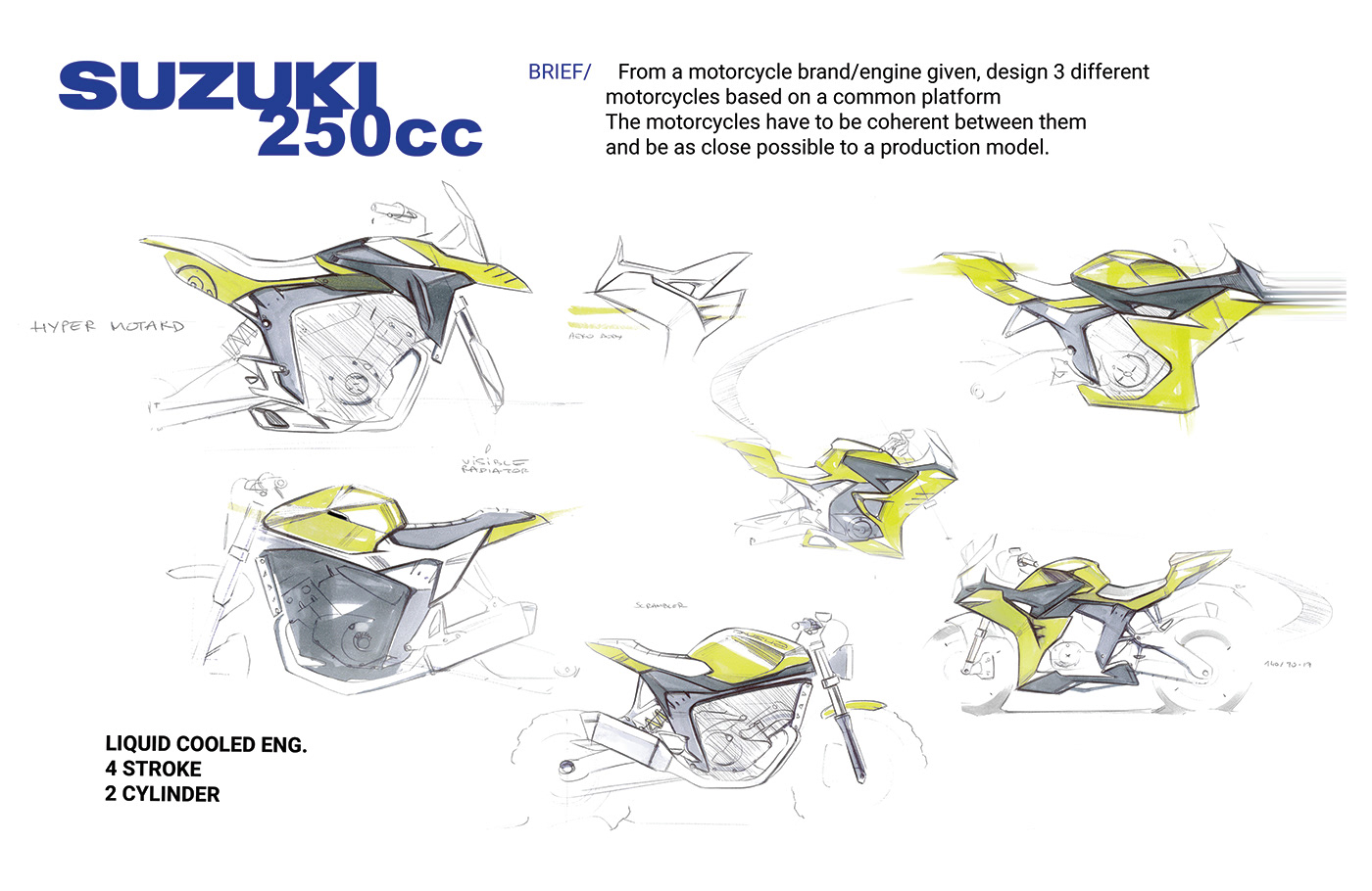 Suzuki 250 Motorcycles On Behance Motorcycle Engine Diagram Thank You