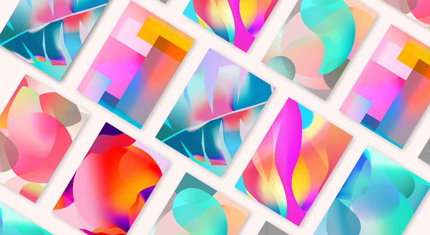 pattern gradient shapes Forms graphic beauty Packaging sparkling