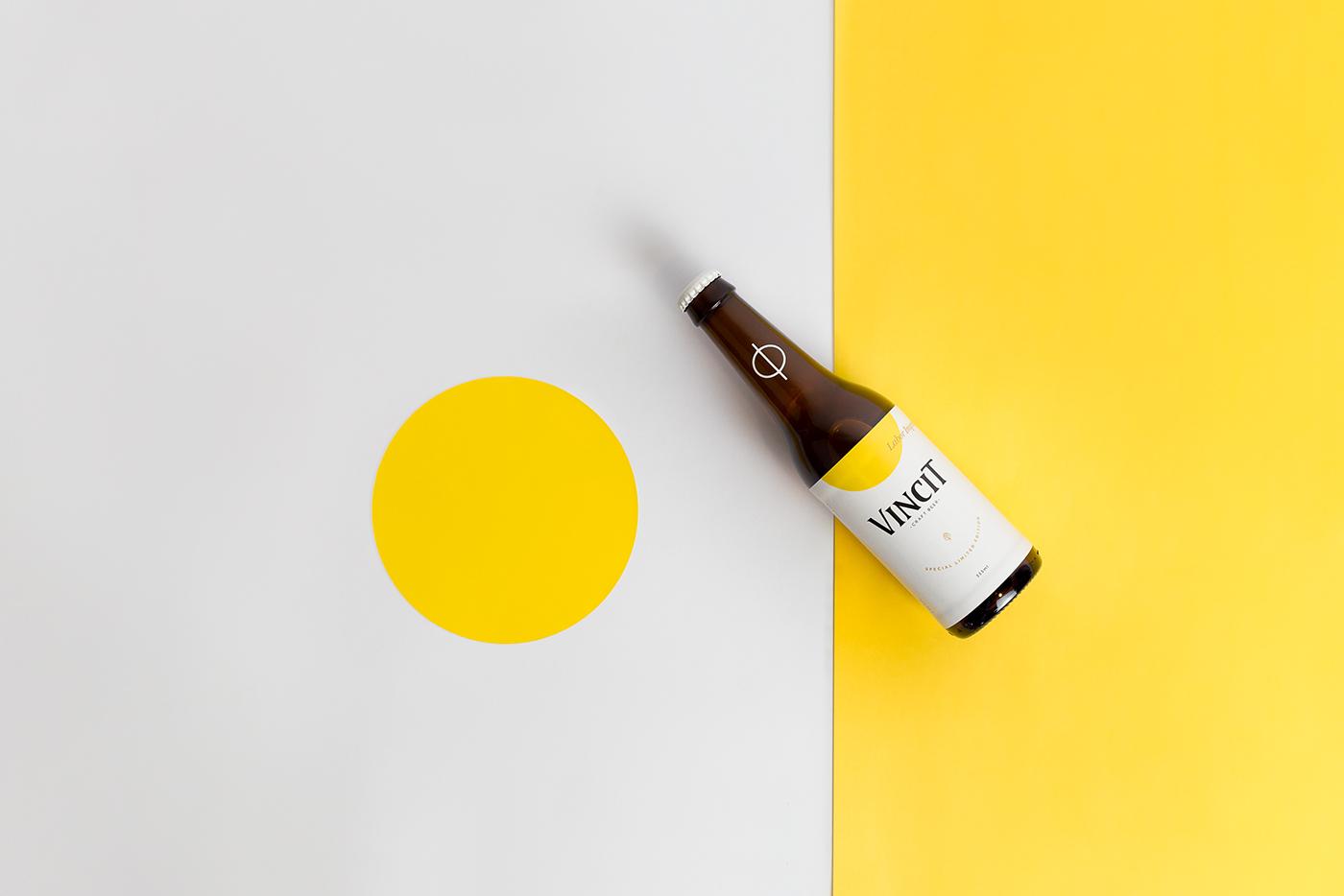 beer craft beer yellow design Phi simplicity brewery brazilian design Brazilian