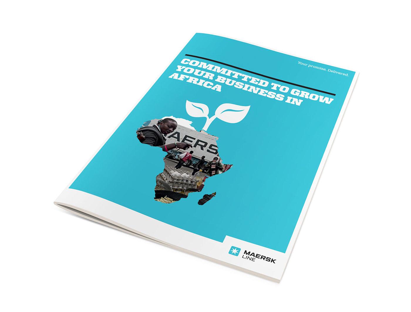 Maersk Line: Growing Opportunities in Africa Brochure on Behance