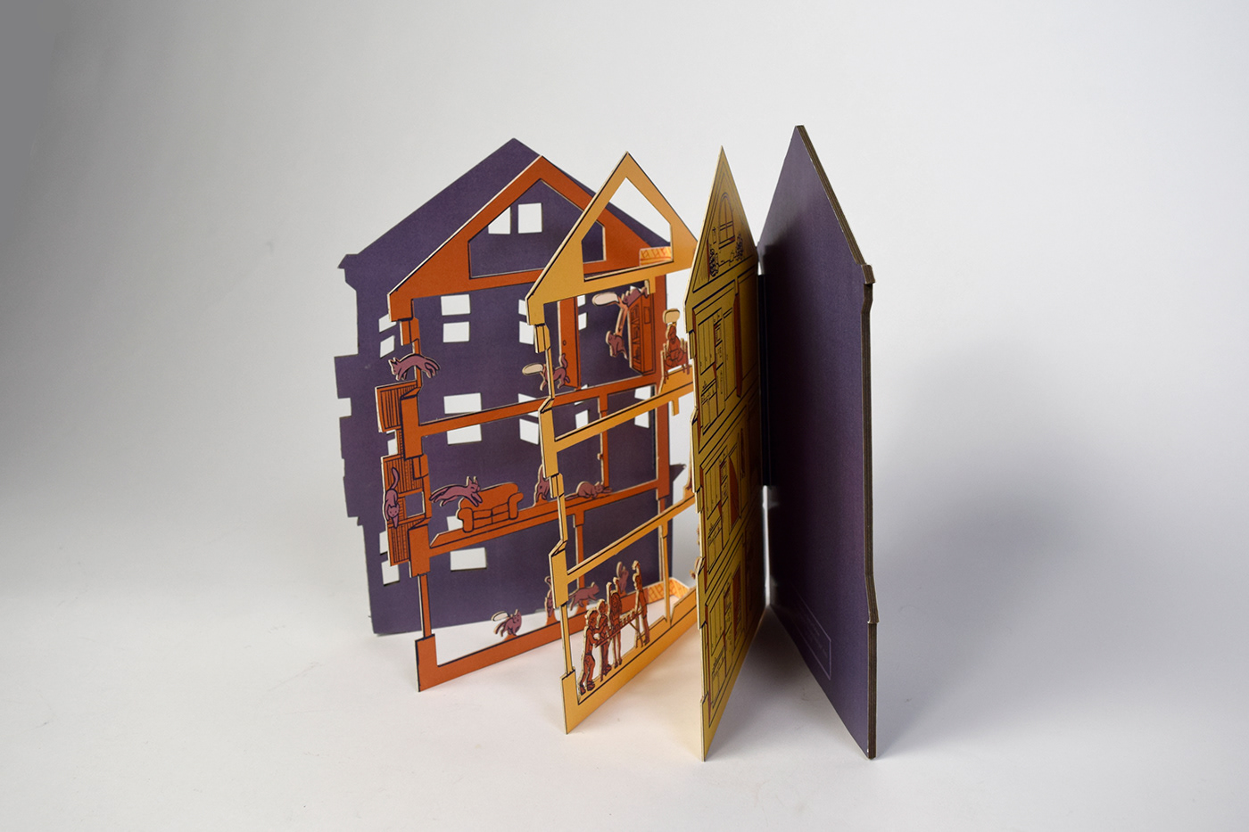 childrens book pop up book Accordian Book artist book doll house paper dolls joy DELIGHT
