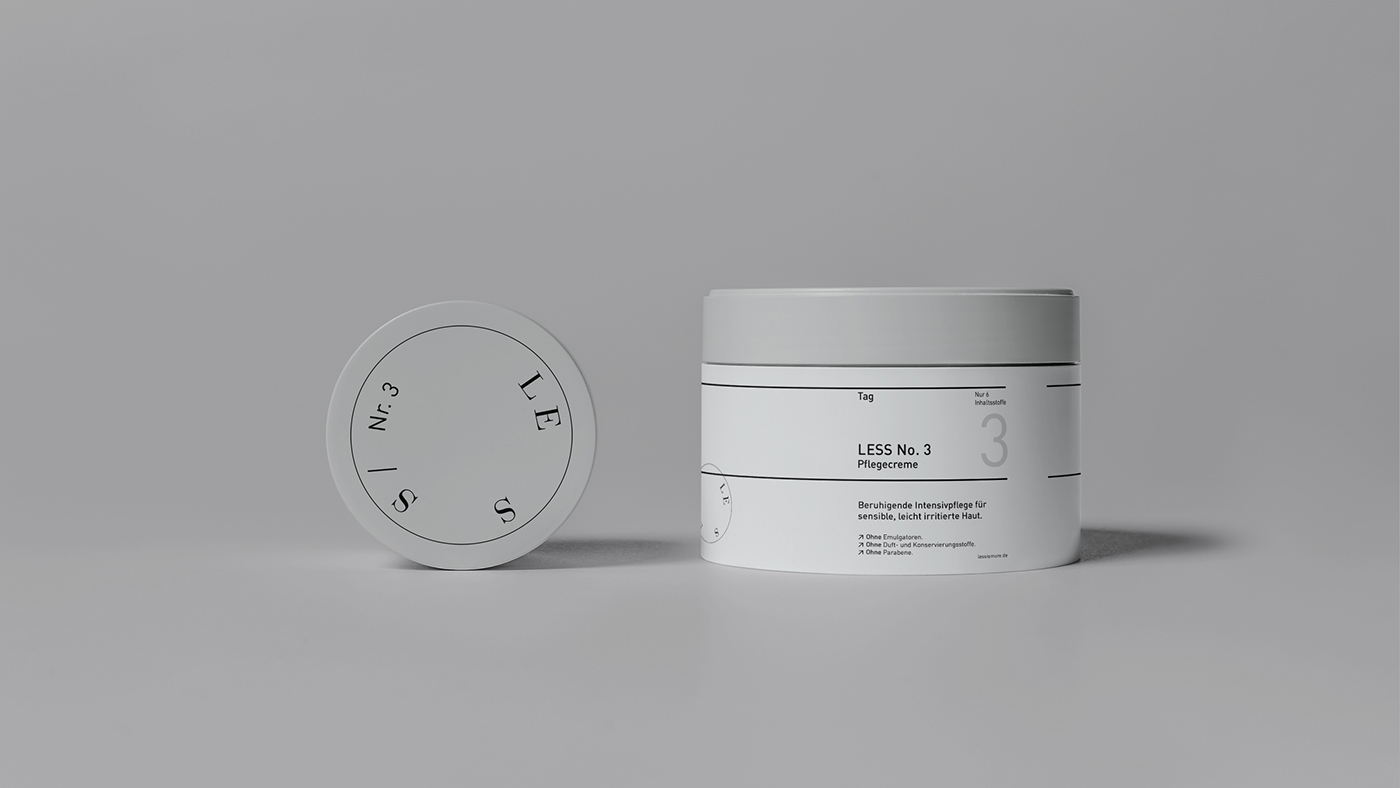 Minimal Brand Identity & Packaging: LESS Cosmetics