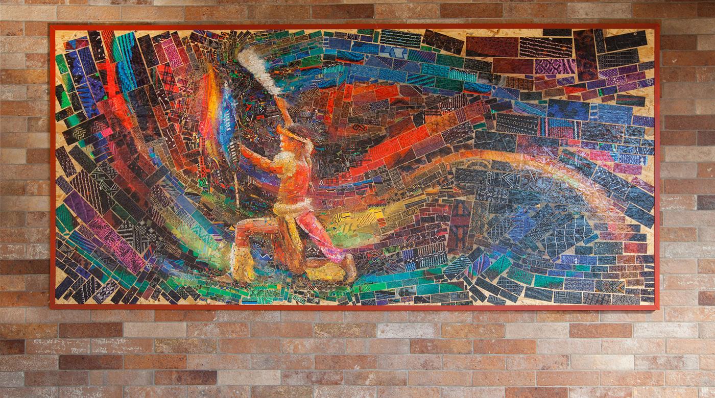 photomosaic mosaic computer graphics decoration african girls ghetto pattern roots maternity zulu warrior