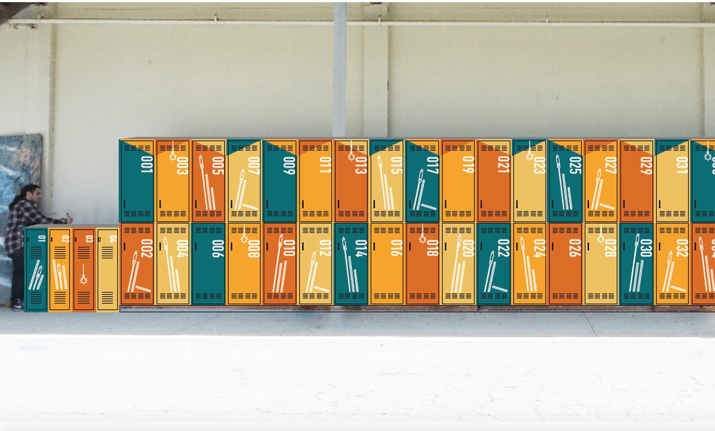 cal poly pomona art locker redesign on behance