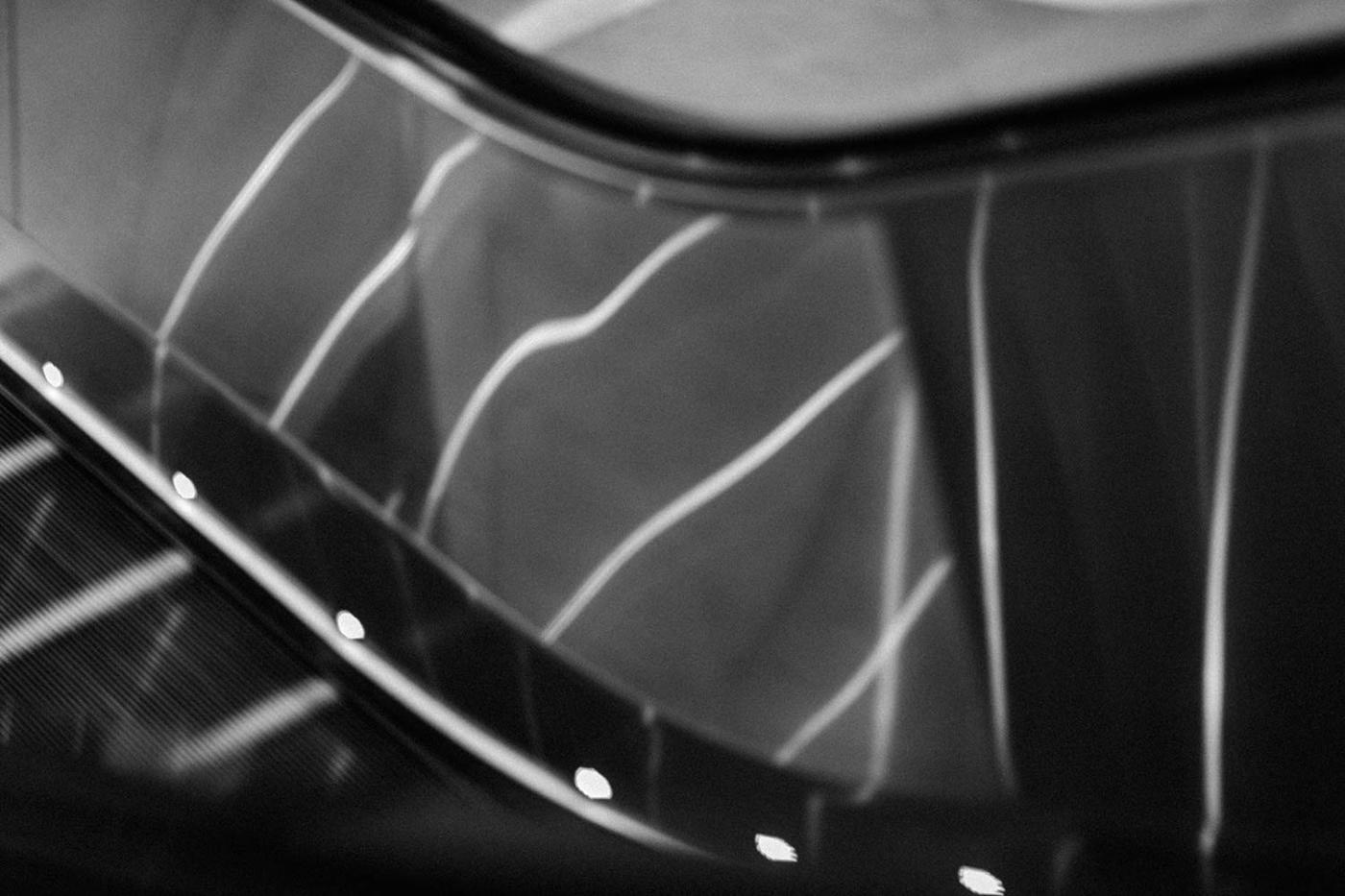 Fine art photo of an escalator with the stair lights reflecting. Kuala Lumpur - Malaysia