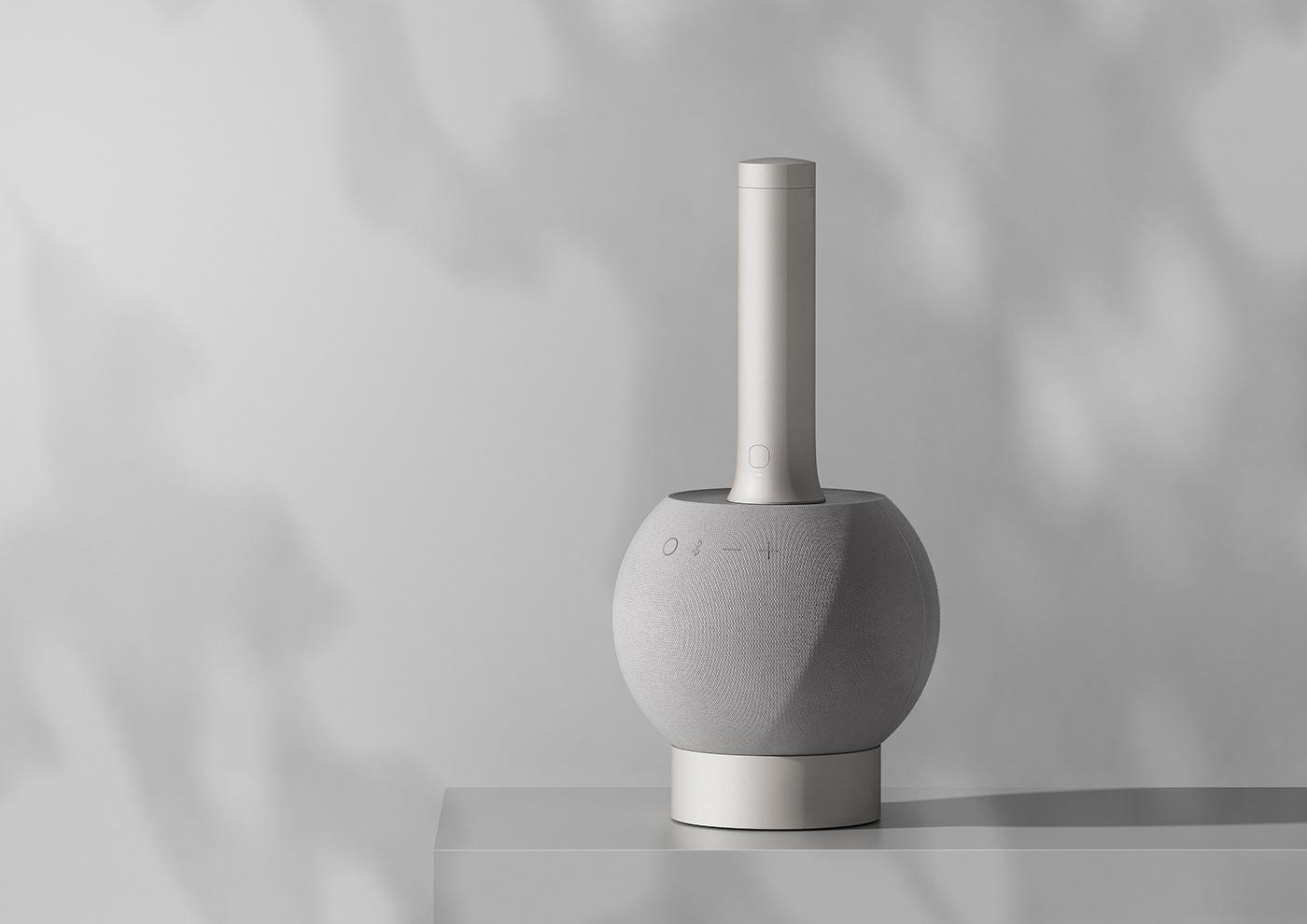 fabric light lighting mic microphone objet product sound speaker design