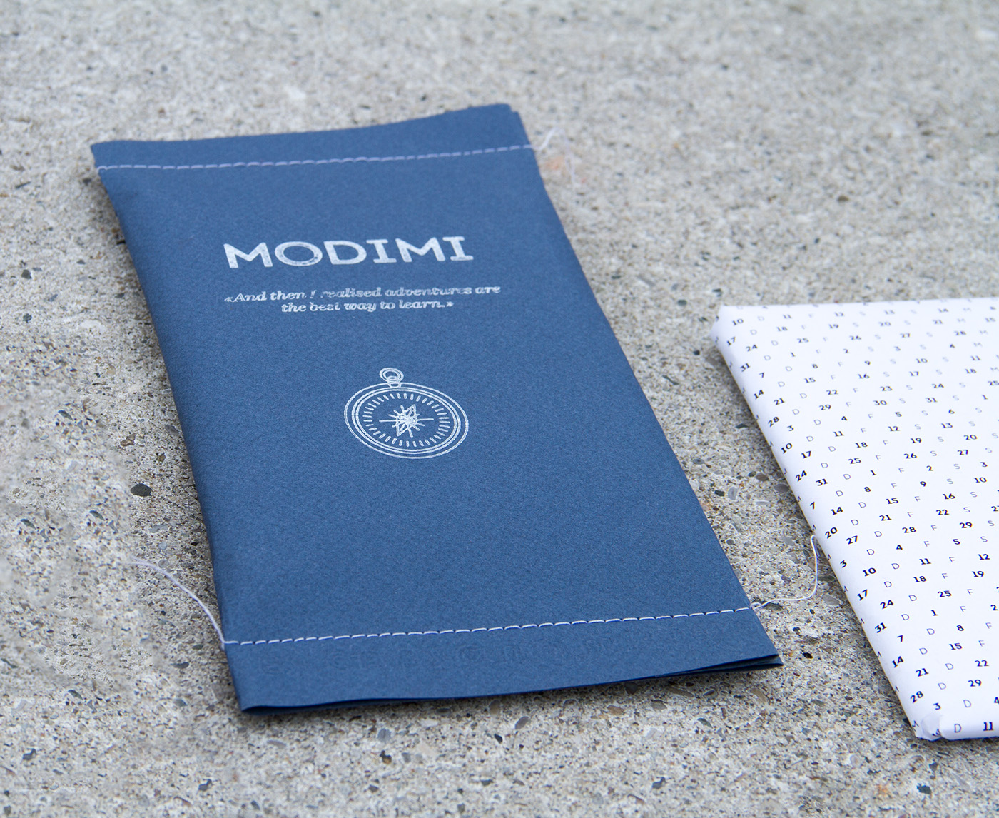leather salmon cover envelope Travel Diary compass stamp handmade note