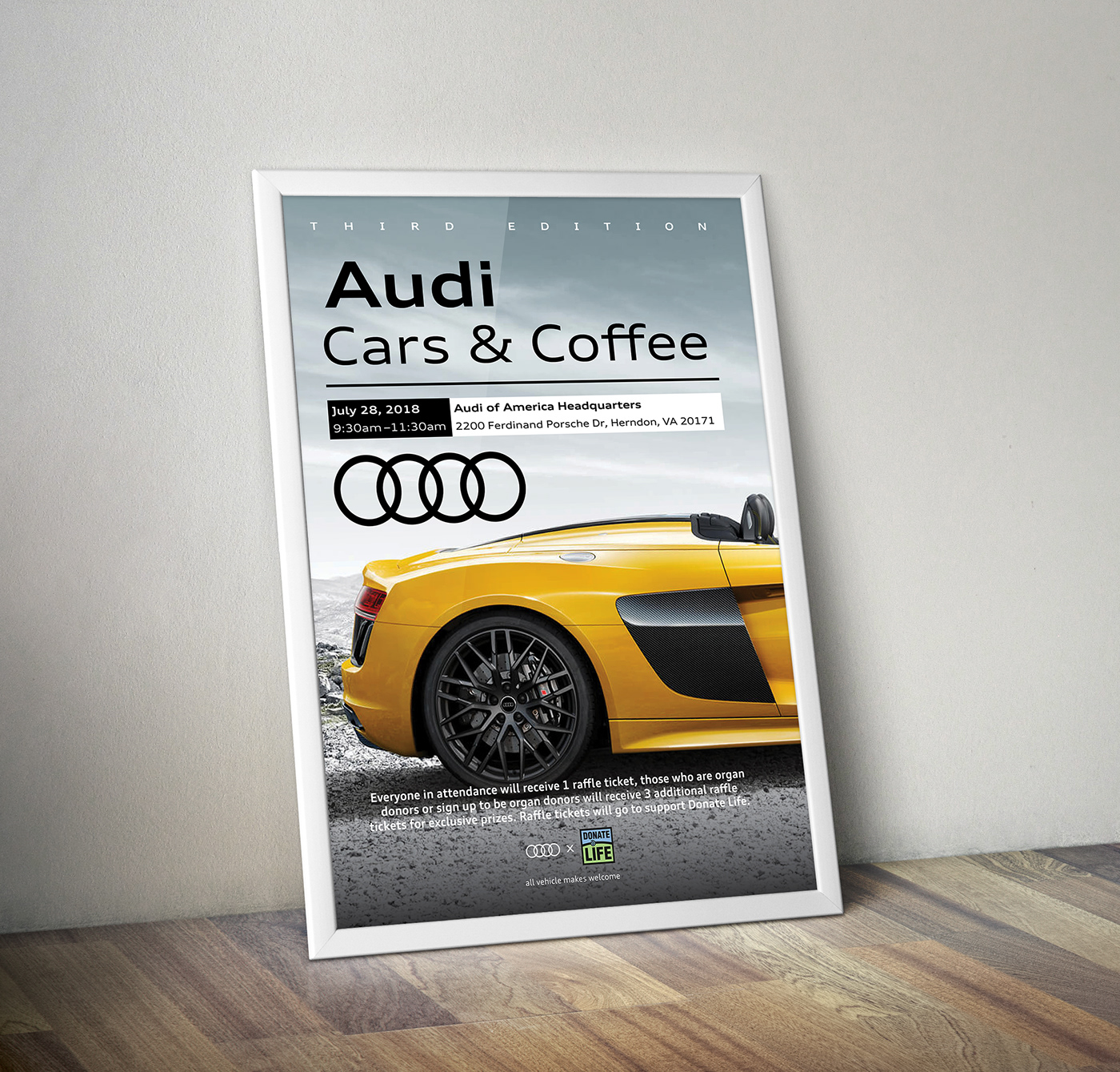 Audi Cars Coffee Flyer On Behance - What company makes audi cars