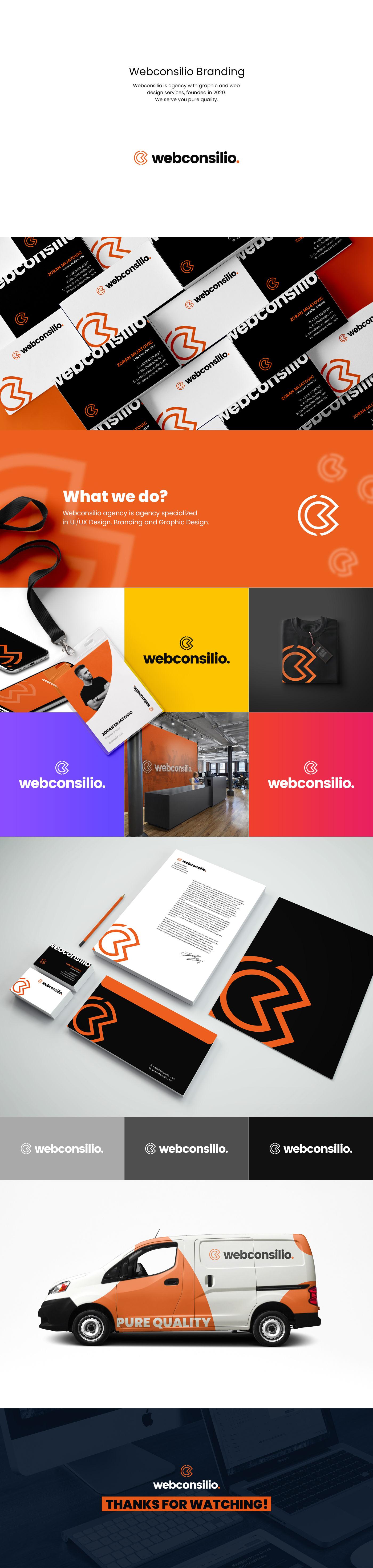 agency brand identity branding  business card design logo mockups uiux Van Web