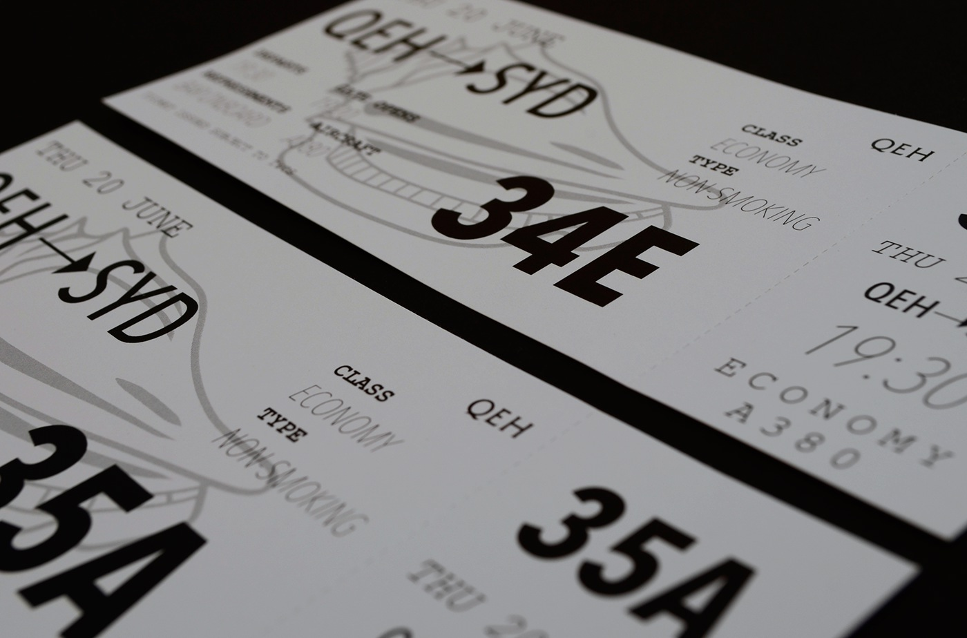 ticket Boarding Pass airline play qeh Theatre