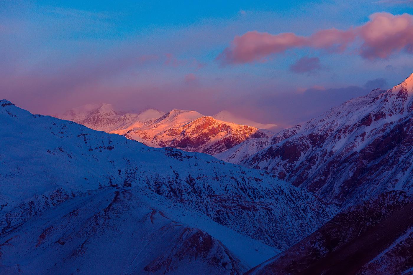 colorful himalaya Landscape mountain Nature nepal Sunrise sunset Travel trekking