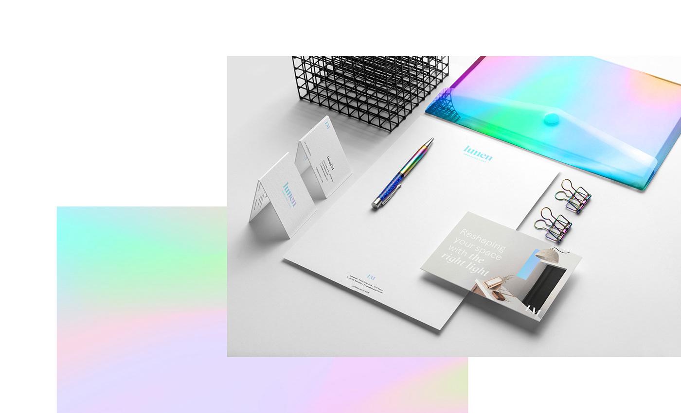 light lighting Lumen lamps minimal White color iridescent spectrum