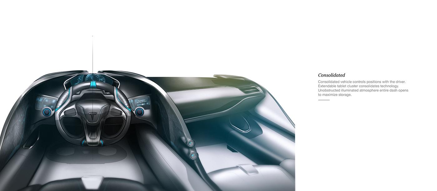 Tesla 2020 Interior on Behance