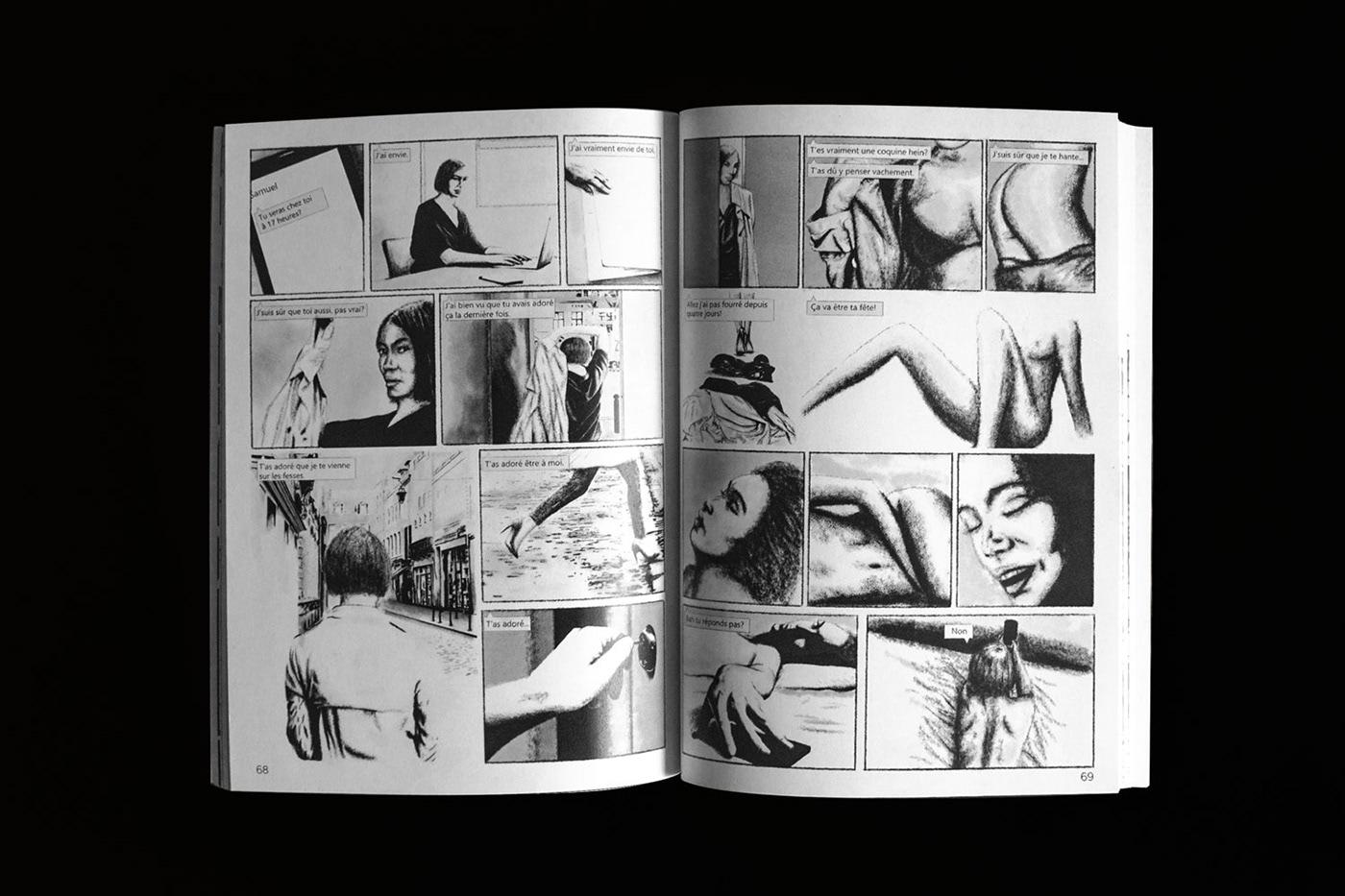 feminism woman Pleasure comic sex masturbation ink watercolor