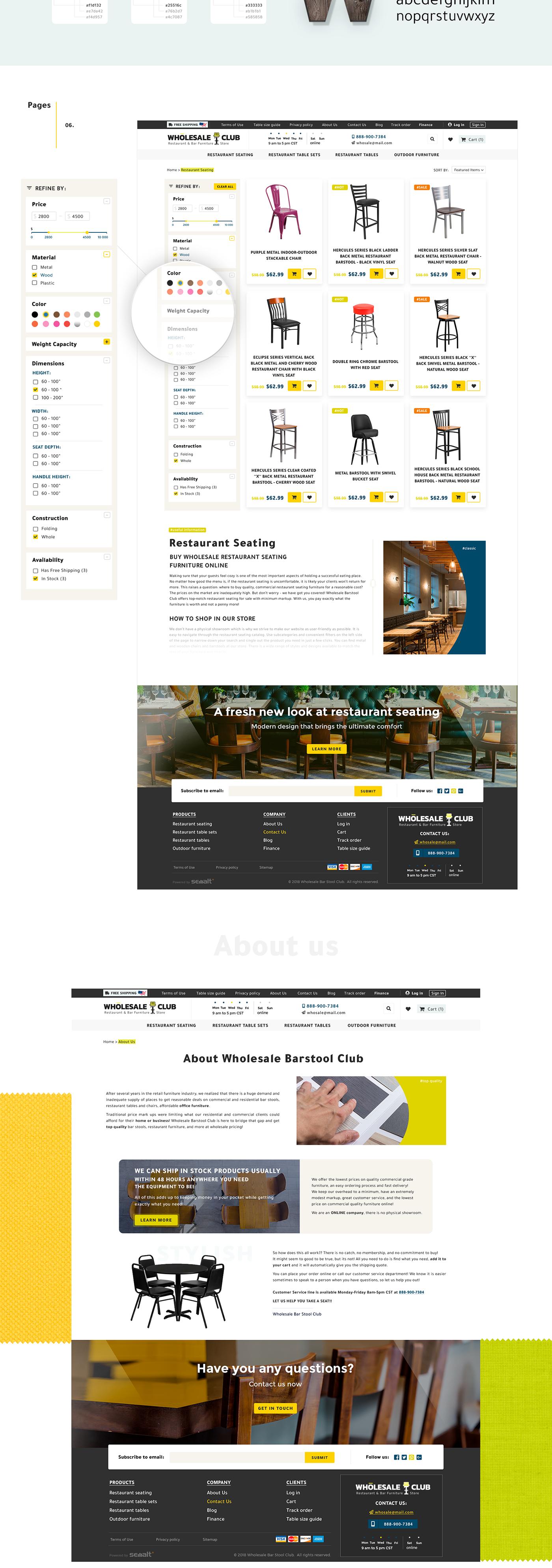 ux xD interaction yellow black e-commerce brand shop Interior Scandinavian