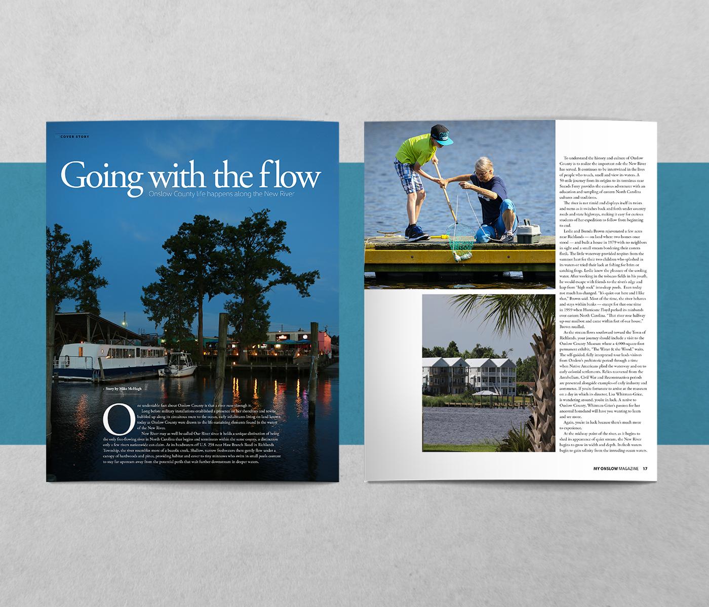 Magazine design Layout Design