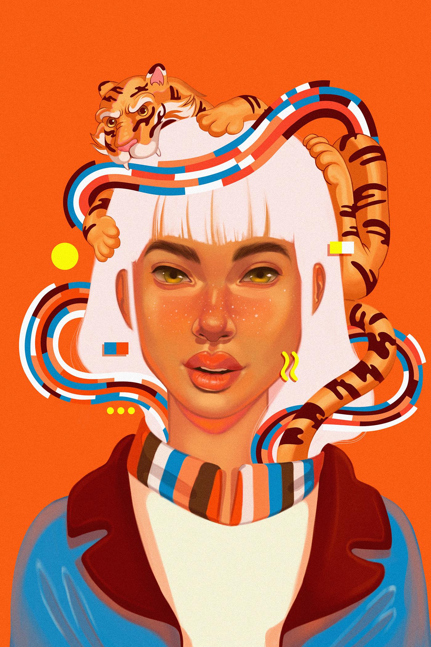 bad bunny colombia digital illustration digital painting Dua Lipa germangonzalez music nft nftart SOSCOLOMBIA