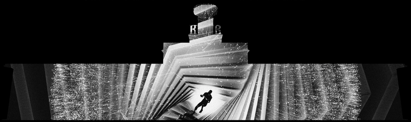 Mapping projection 3D Show life man Nature minimal black White