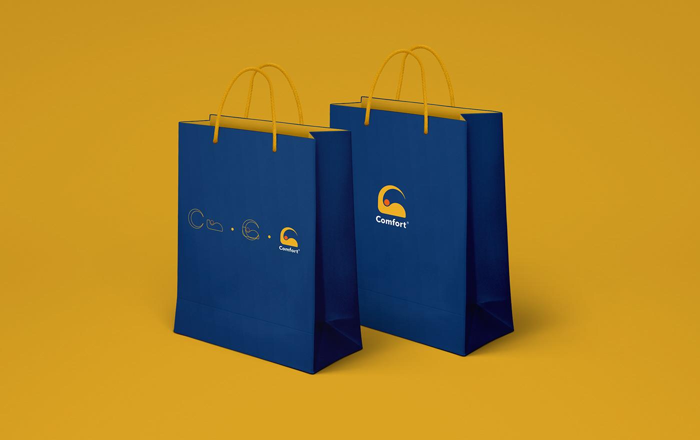 brand brand identity design graphic design  hotel interior design  product design  Rebrending Travel Comfort Inn