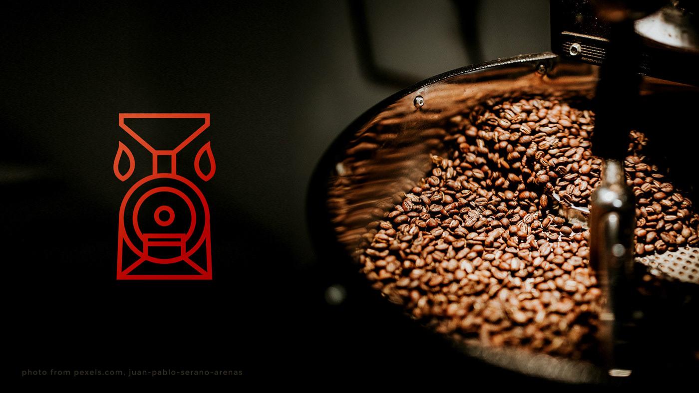 branding  cafe Coffee coffee shop drink Label logo Packaging roasters roastery