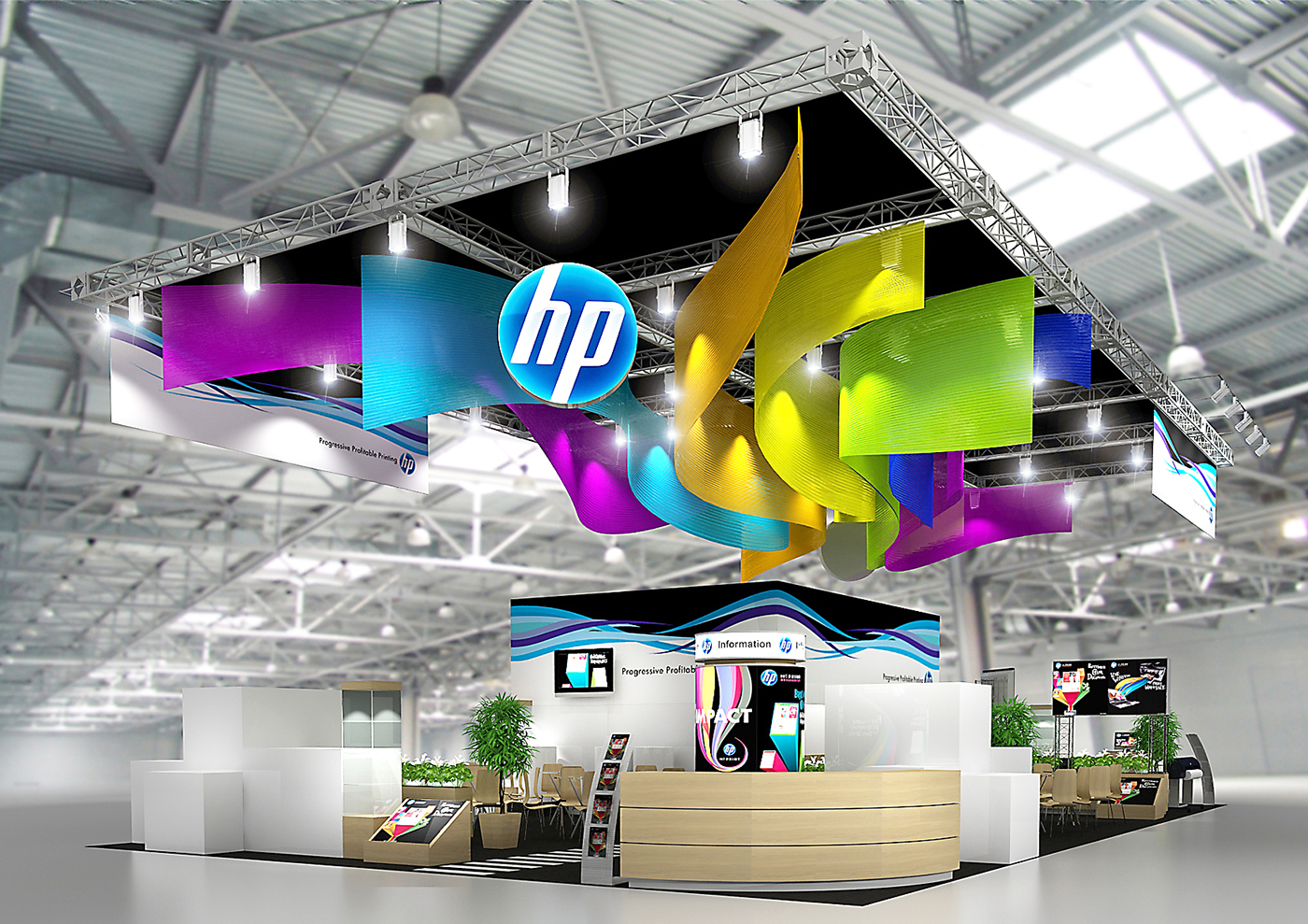 Exhibition Stand Design Behance : Exhibition stand hp on behance