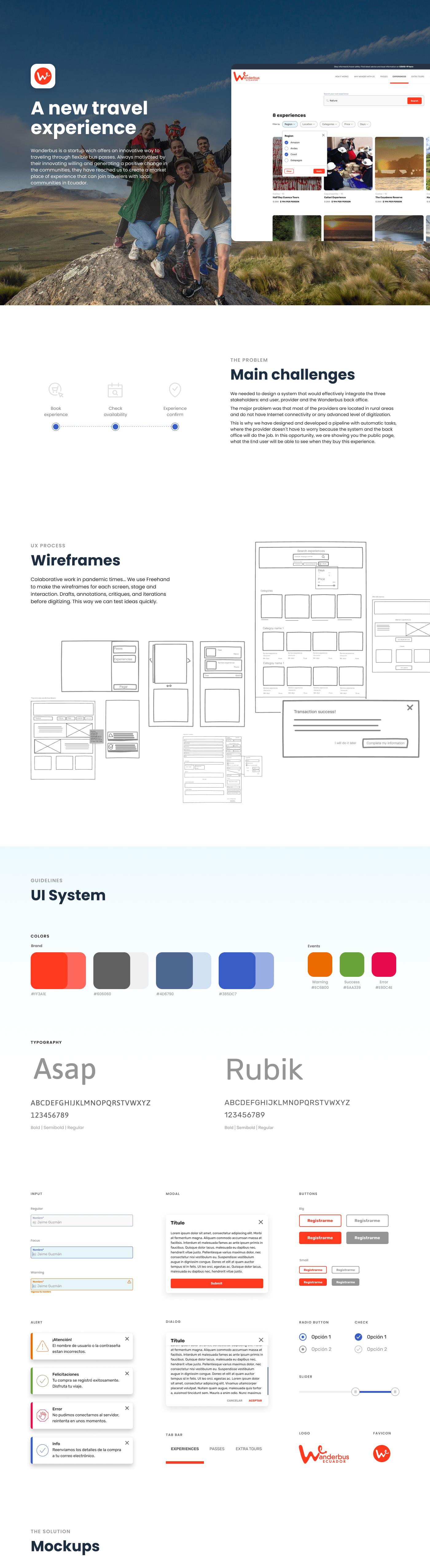 Travel ux ux/ui Web