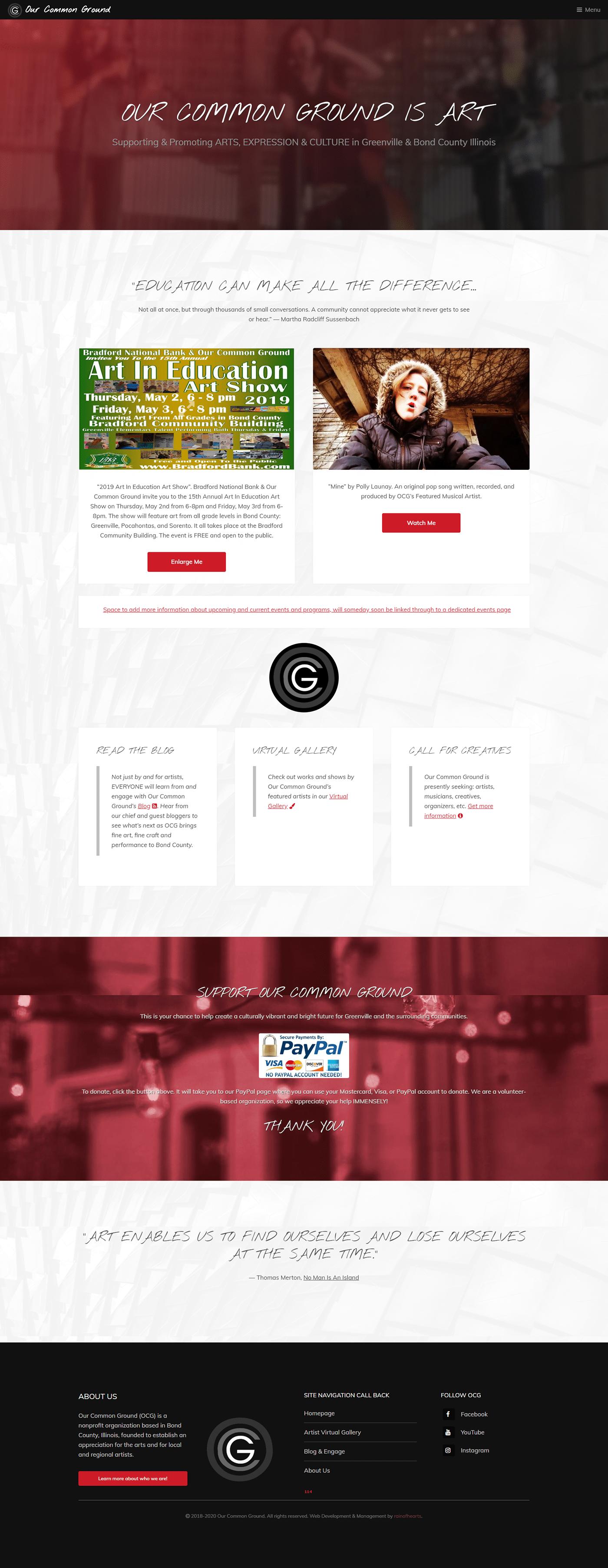art Education music theater  Website