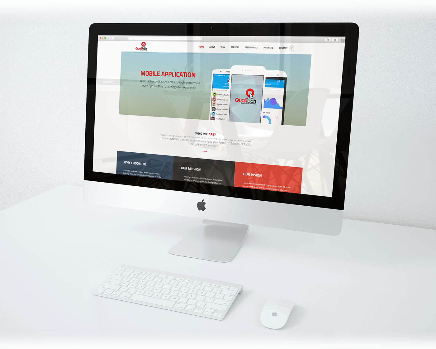 One Page,responsive website,html5,slider,qualitech,egypt,video,promoting video