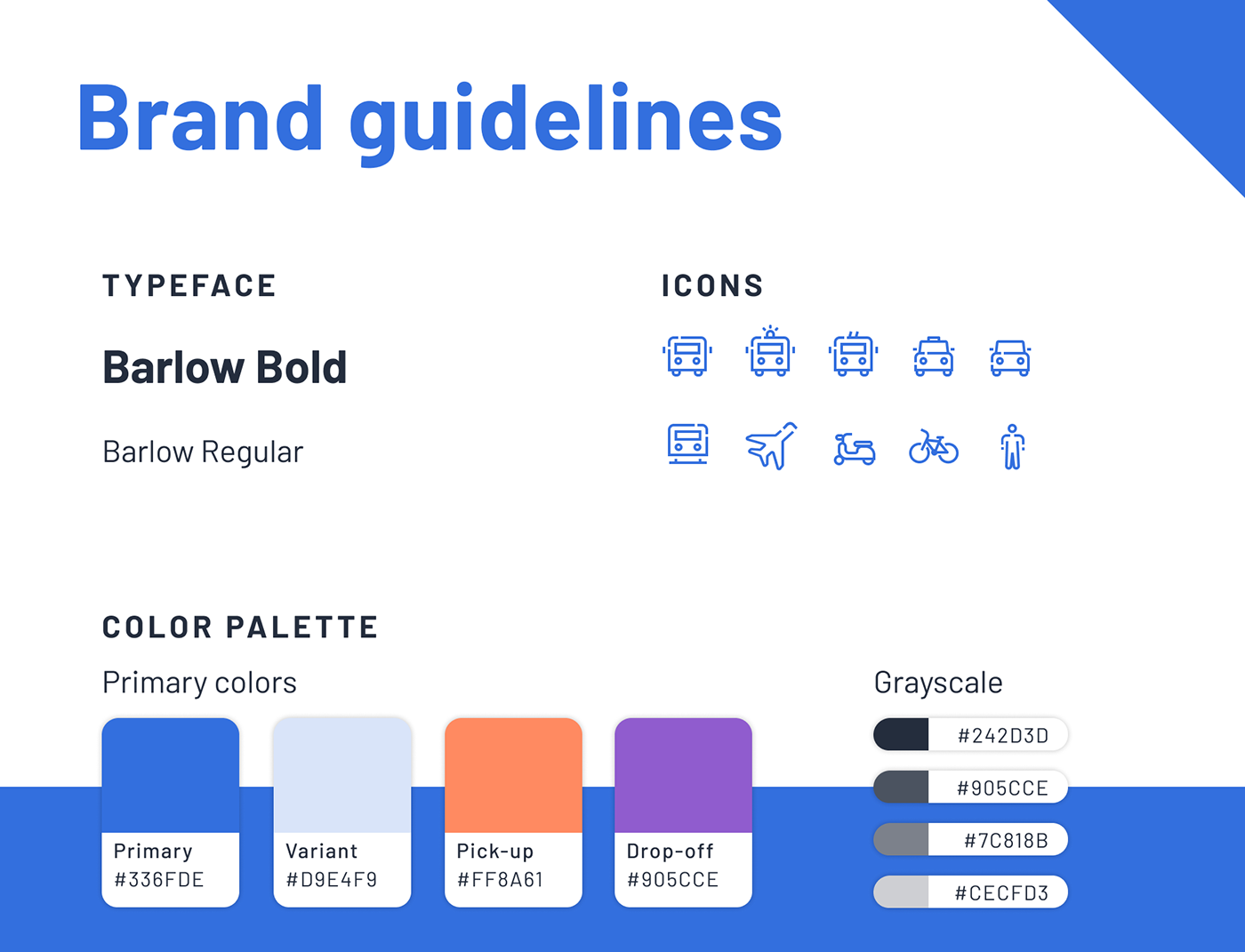 UFT - Brand guidelines : Typeface, icons, colors