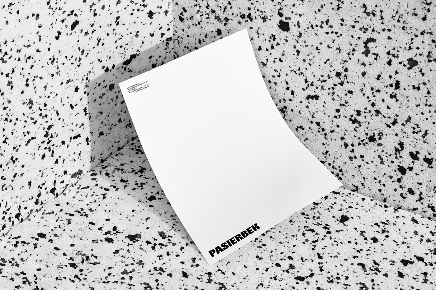 Melbourne interior design  graphic design  business card black and white letterhead Stationery branding