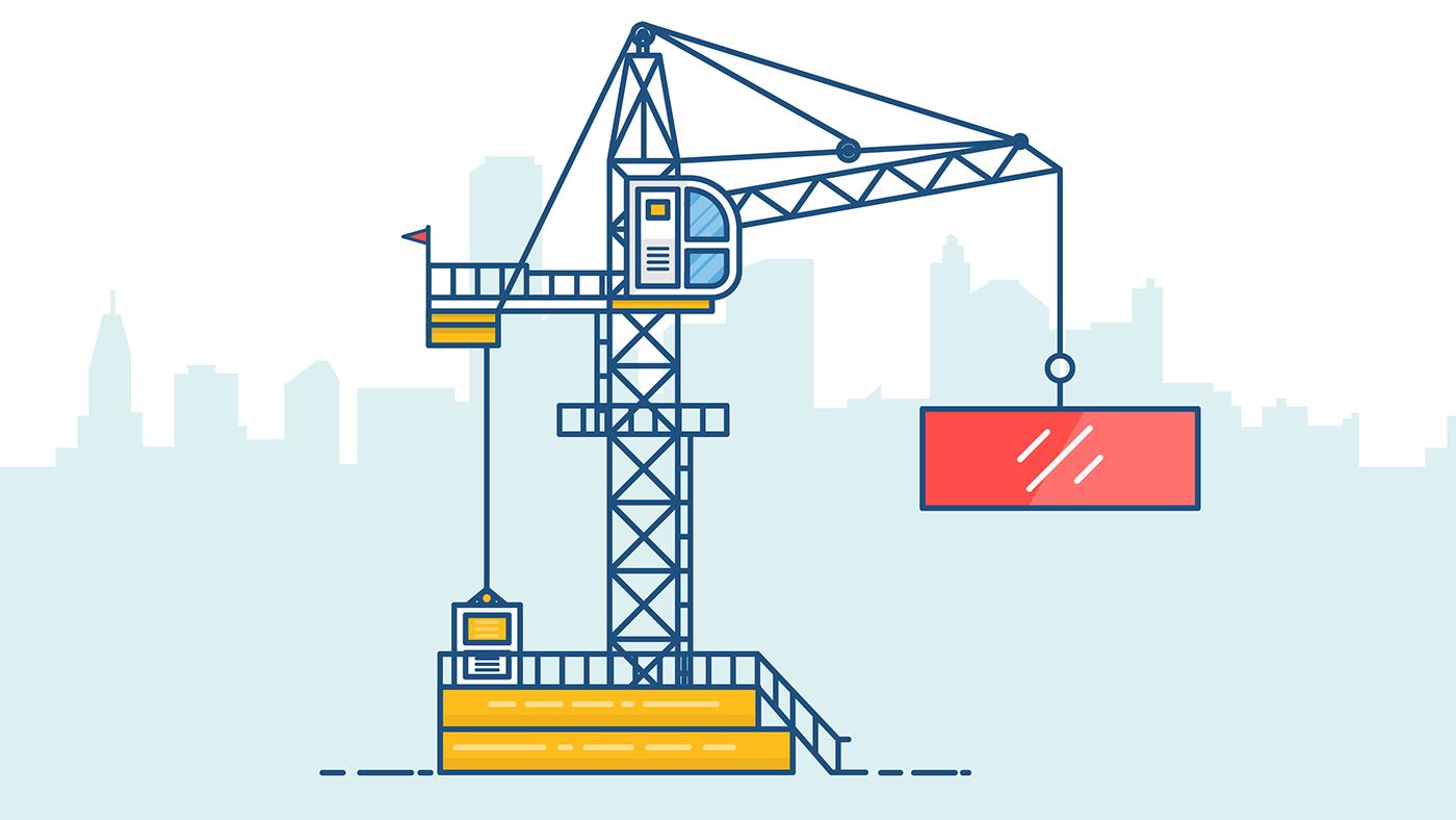 Annabella 67 Art Line Design : Tower crane line art on behance