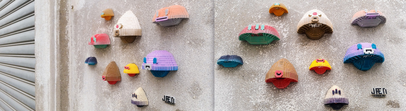 3d printing mushroom Street Art  urban art psychedelic colorful 3D voxel Character design  cute