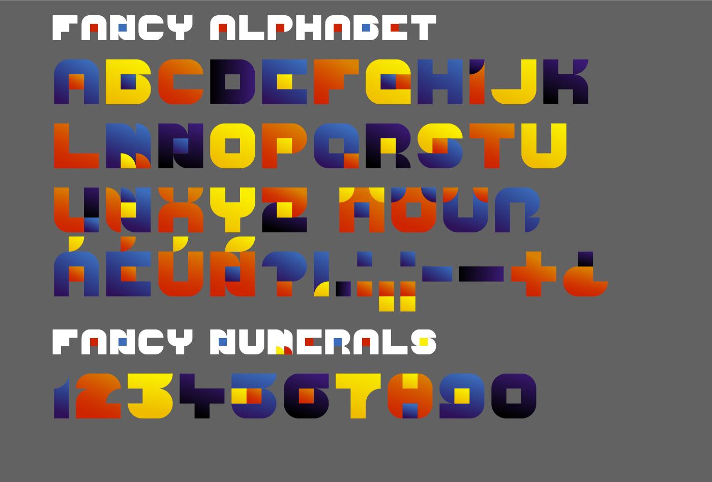 Free font typedesign geometric color font otf svg fontdesign schrift Typeface