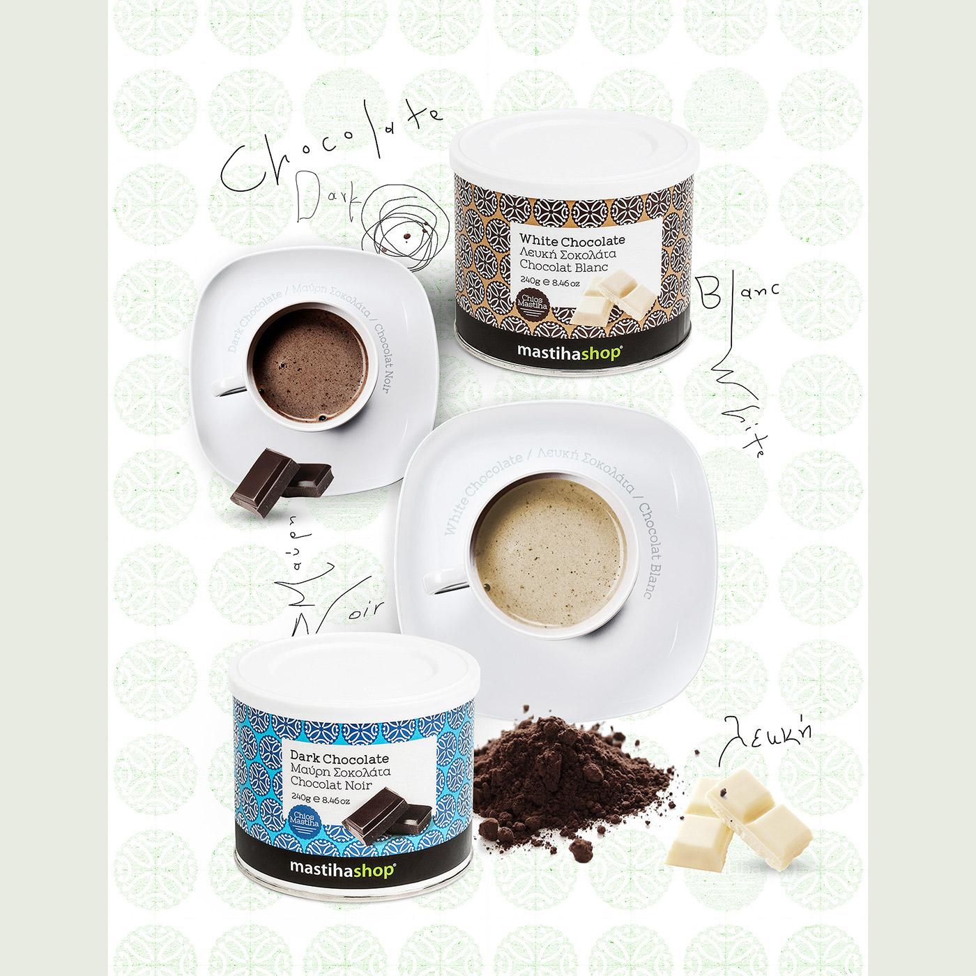 Mediterra SA www.mastihashop.com finest goods mediterranean Chios beverage dark chocolate white chocolate pattern product series