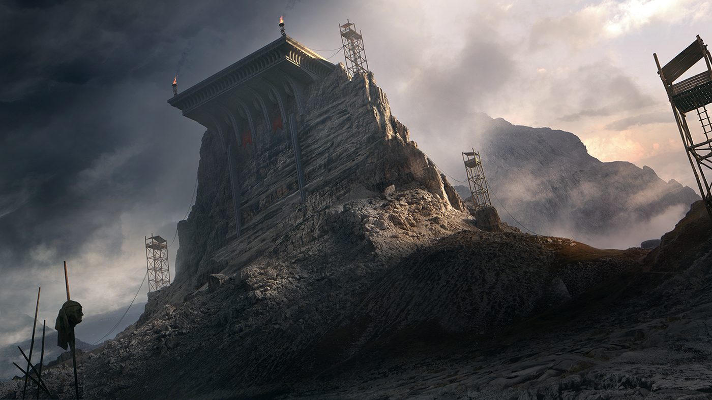 Matte painting portfolio on behance for Matte painting