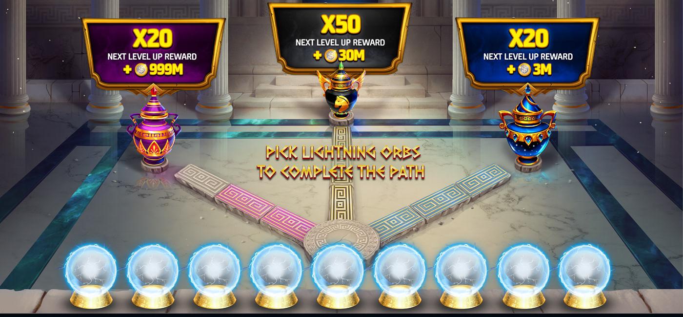 app art direction  casino product Slots UI ux