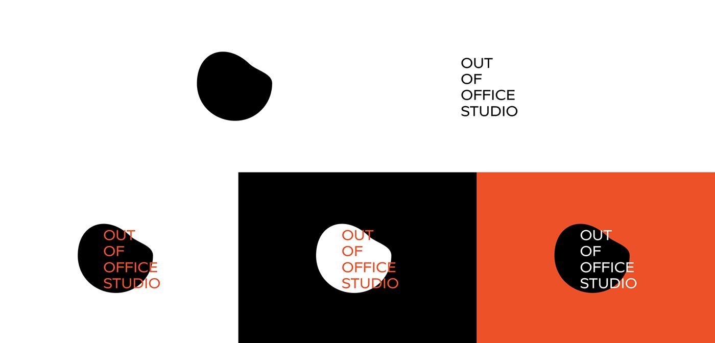 minimal pattern black orange White gif art direction  outofoffice identity design studio