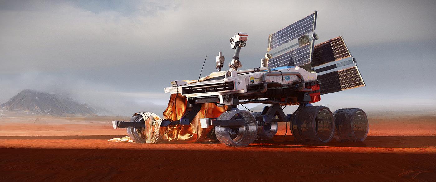 orange science fiction mars books spaceships photomanipulation vectors Dino mountains