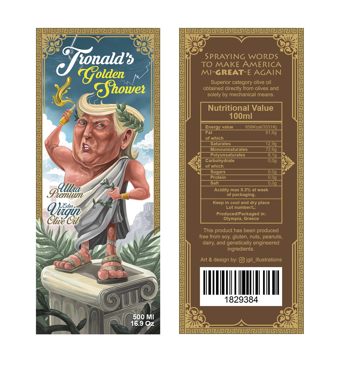 Tronald\'s Golden Shower. on Behance