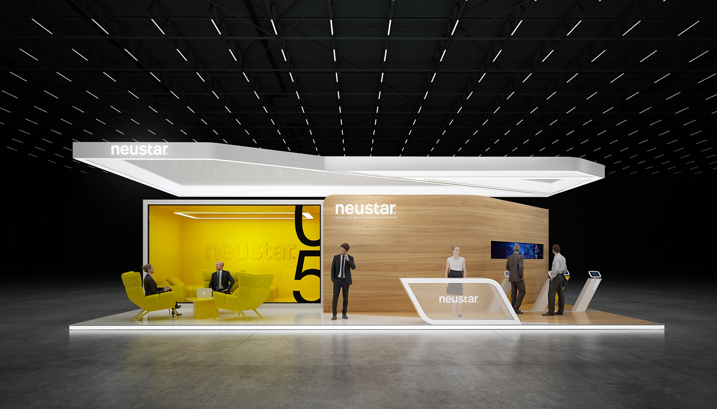 Genesis D Exhibition Design : Neustar exhibition stand on behance