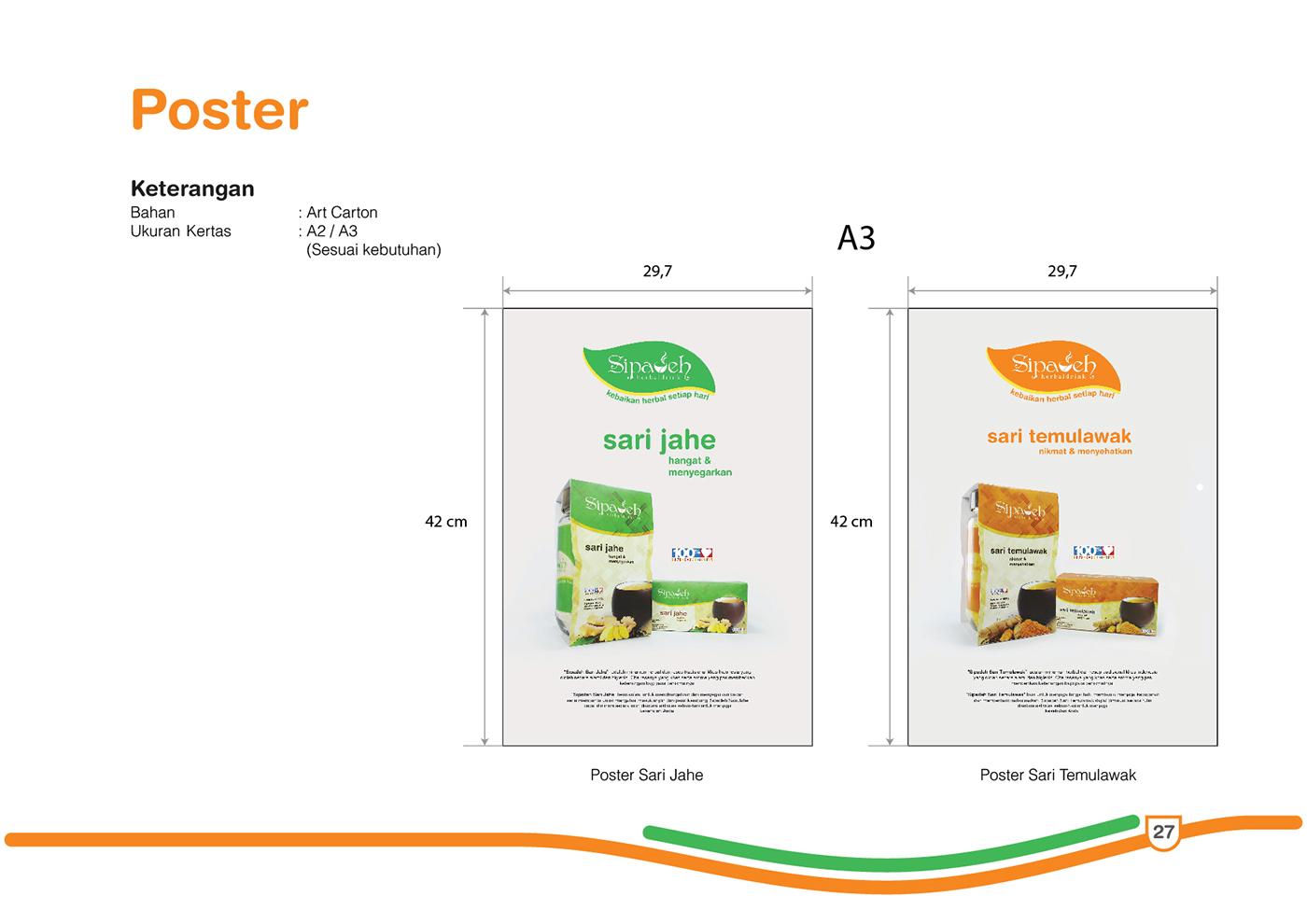 Brand Guidelines Visual Branding Sipadeh Herbaldrink On Behance
